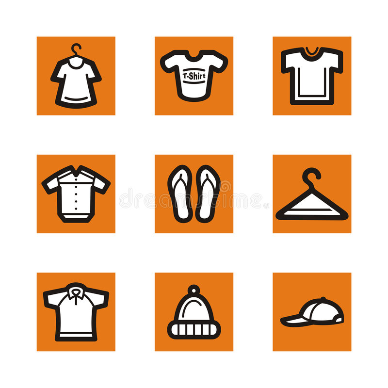 Download Orange icon series stock illustration. Image of clipart - 2461912