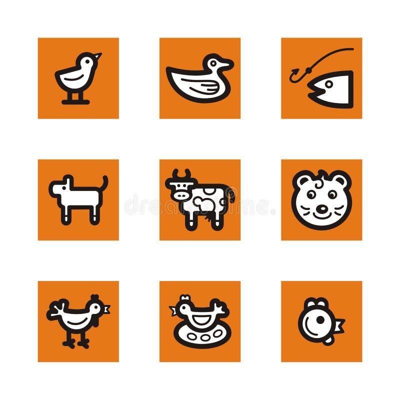 Orange icon series stock illustration