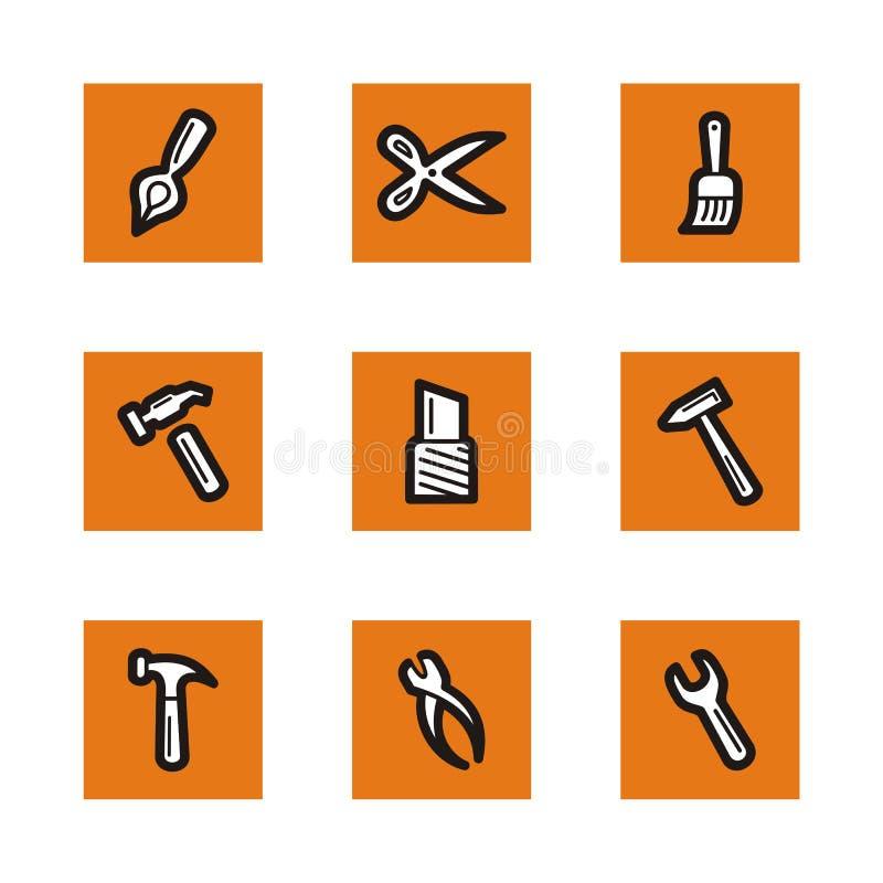 Orange icon series royalty free illustration