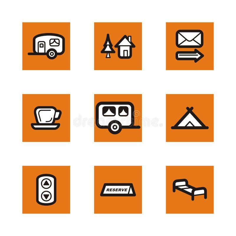 Orange icon series vector illustration