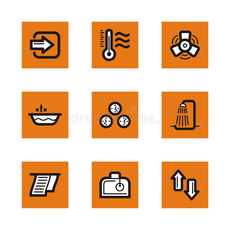Download Orange icon series stock illustration. Image of clipart - 2466271