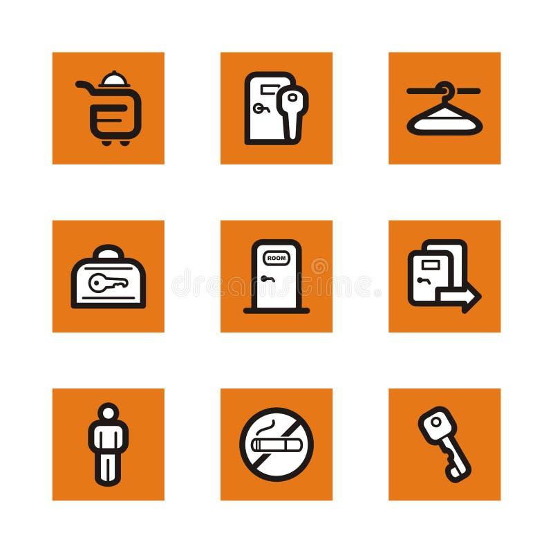 Download Orange icon series stock illustration. Image of drawing - 2466272