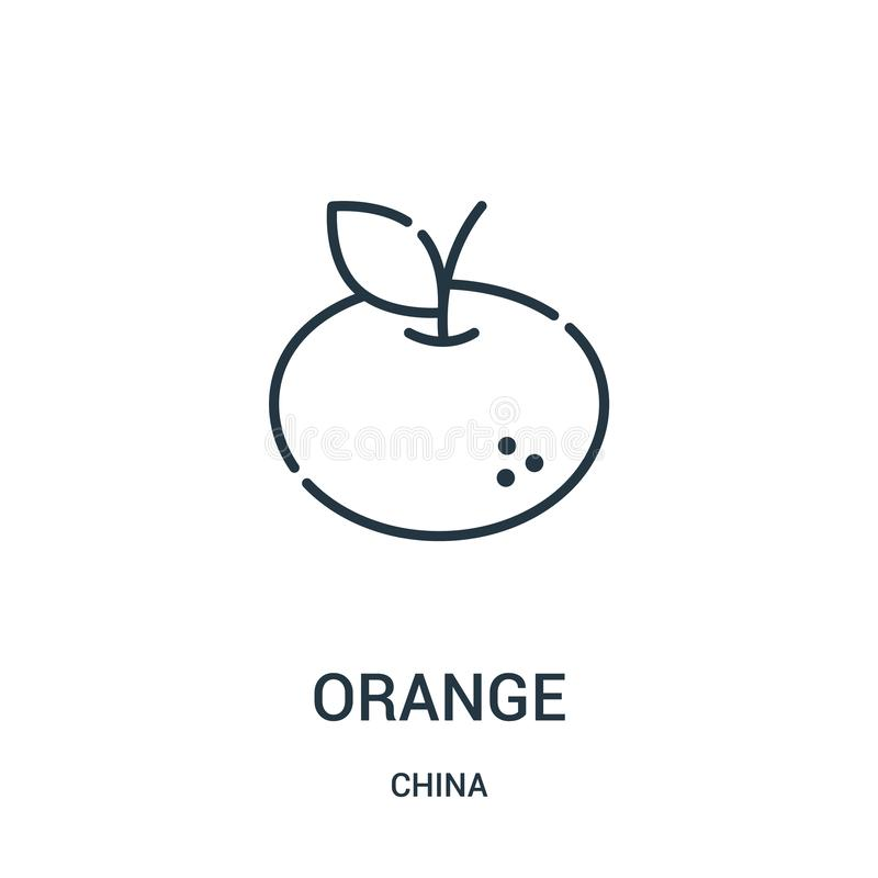 Orange icon vector from china collection. Thin line orange outline icon vector illustration. Linear symbol for use on web and. Mobile apps, logo, print media vector illustration