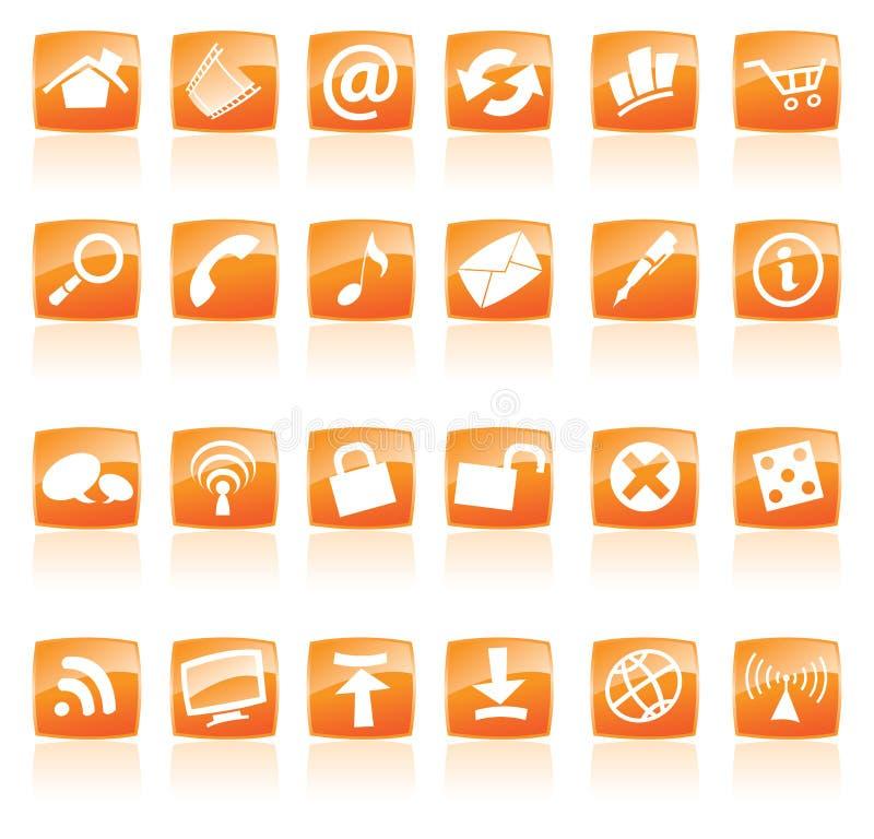 Orange icons vector illustration