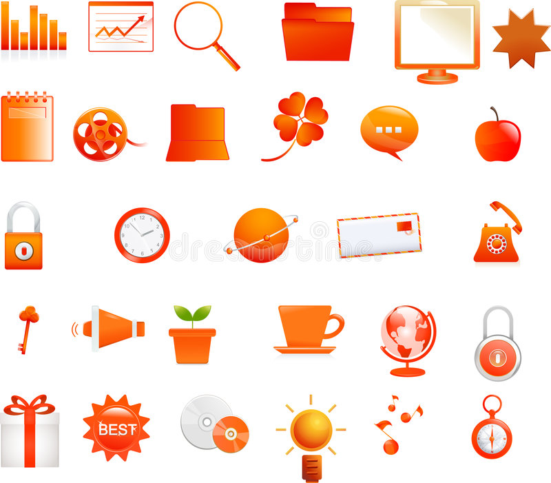 Orange Ikonen vektor abbildung