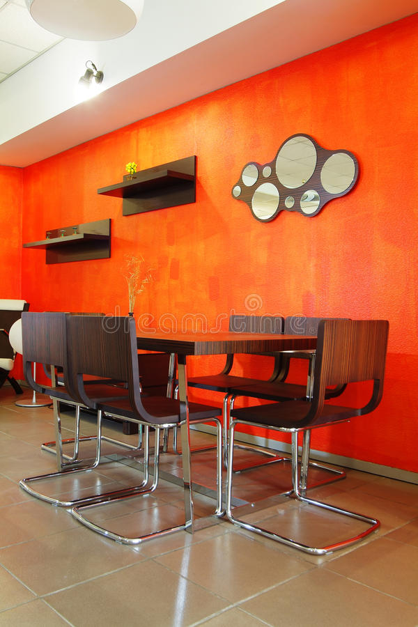 Orange Innenraum stockbild