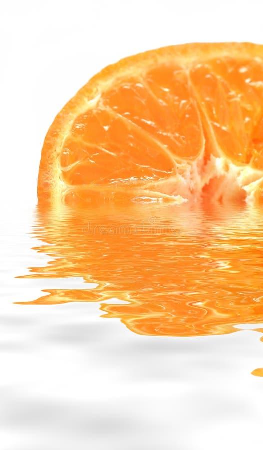 Orange inside water