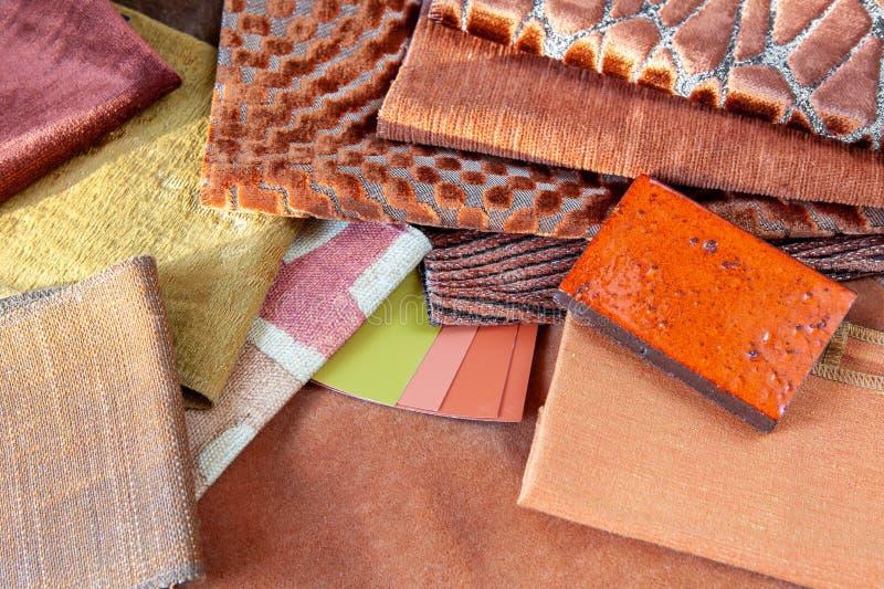 Orange interior design plan royalty free stock photos