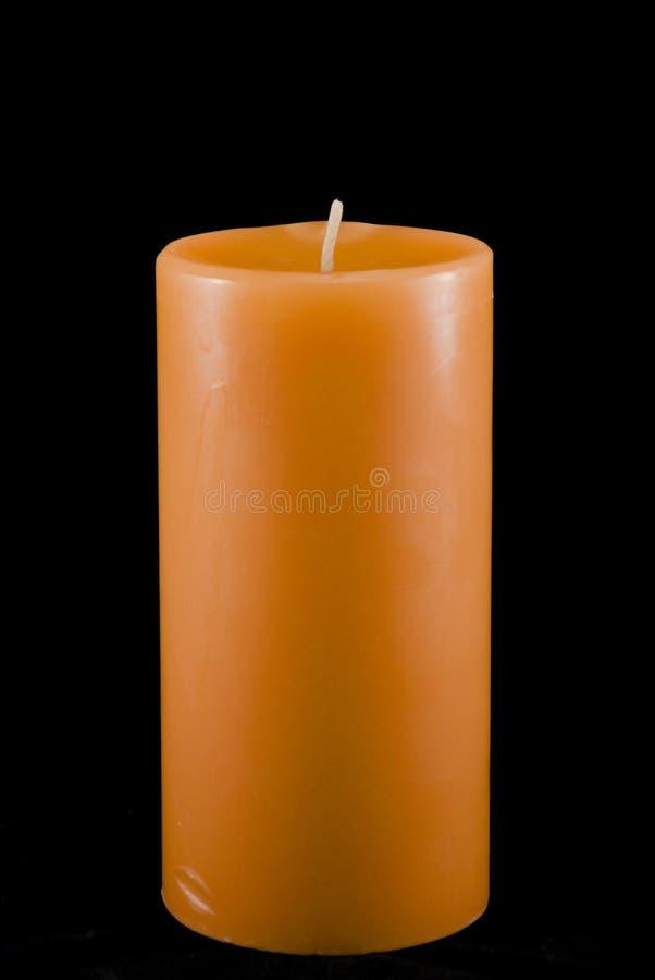 Orange Isolated Candle stock photos