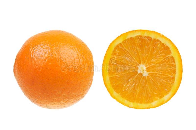Orange isolated over white stock photos