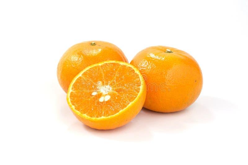 Orange isolated on white stock image
