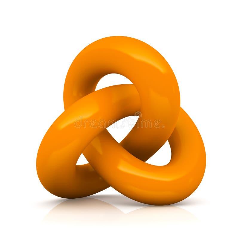 Orange isolerad oändlighetsfnuren stock illustrationer