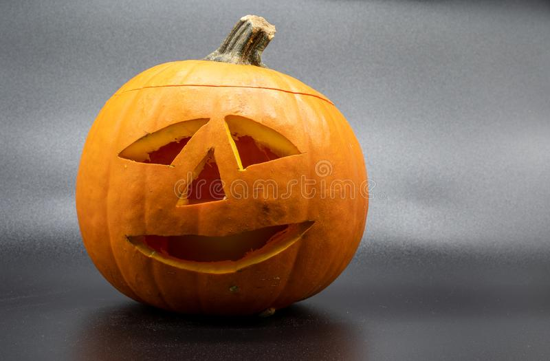 Jack o Lantern Halloween pumpkin grinning friendly royalty free stock images