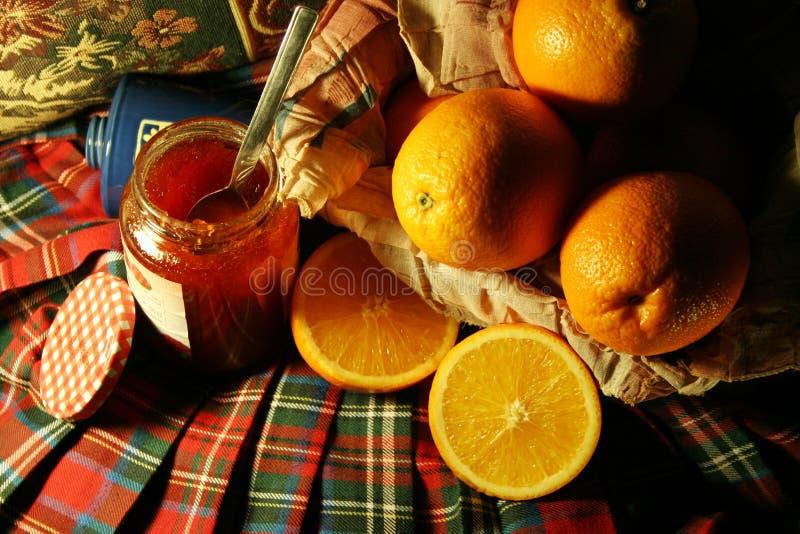 Orange & jam royalty free stock images