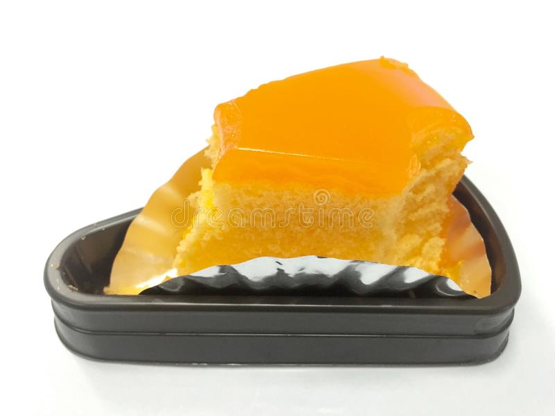 Orange jam cake stock image