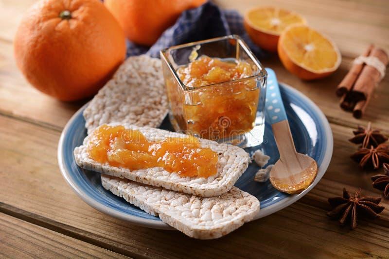 Download Orange Jam With Cracker Puffed Rice Stock Photo - Image: 83704011