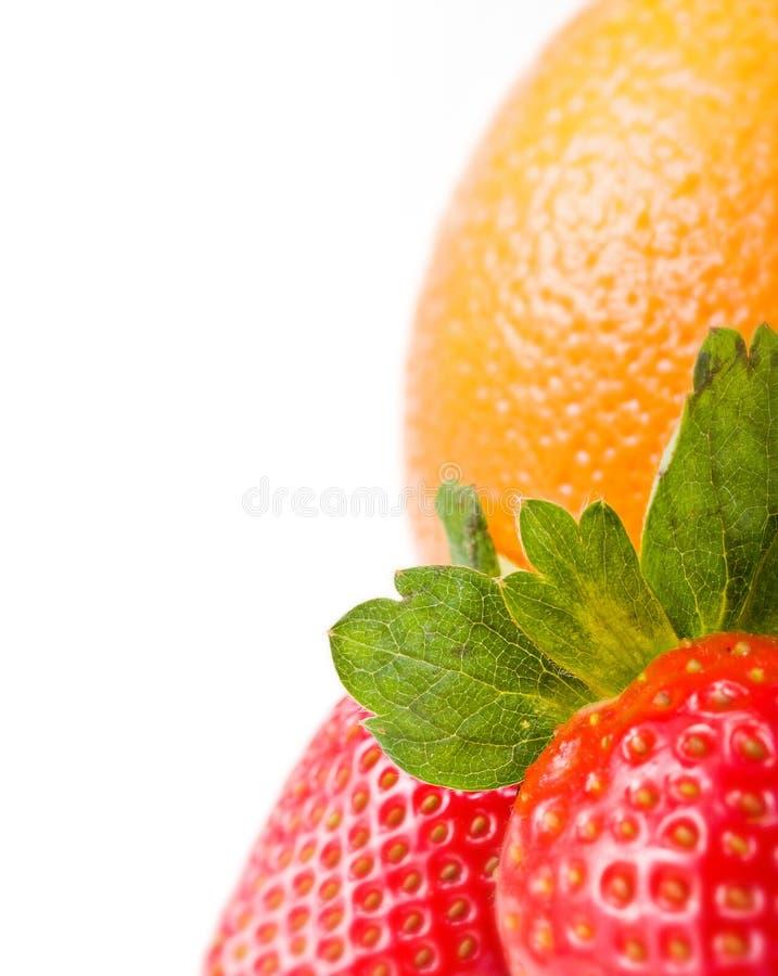 orange jordgubbar arkivfoton