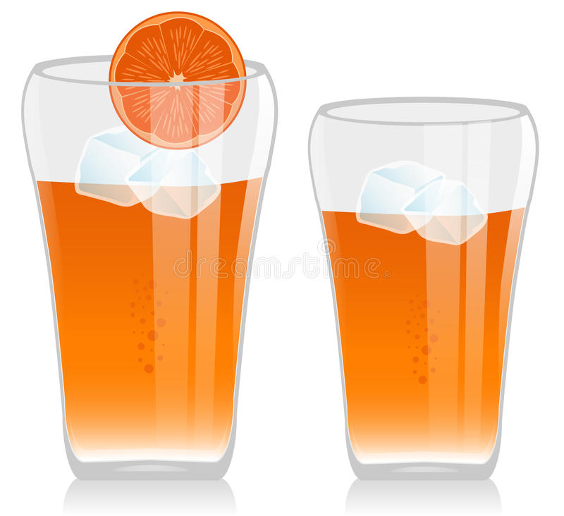 Download Orange Juice stock illustration. Image of silhouette - 16897792