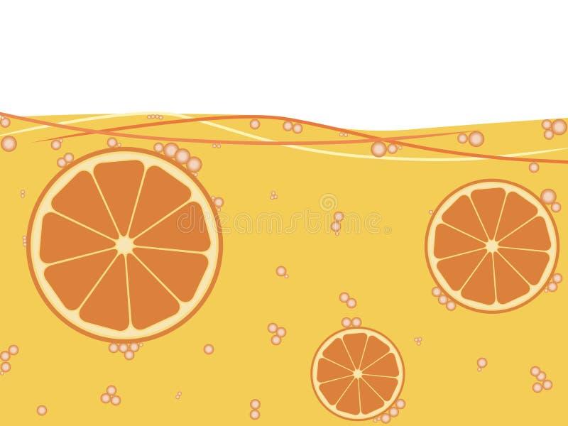 Orange juice royalty free illustration