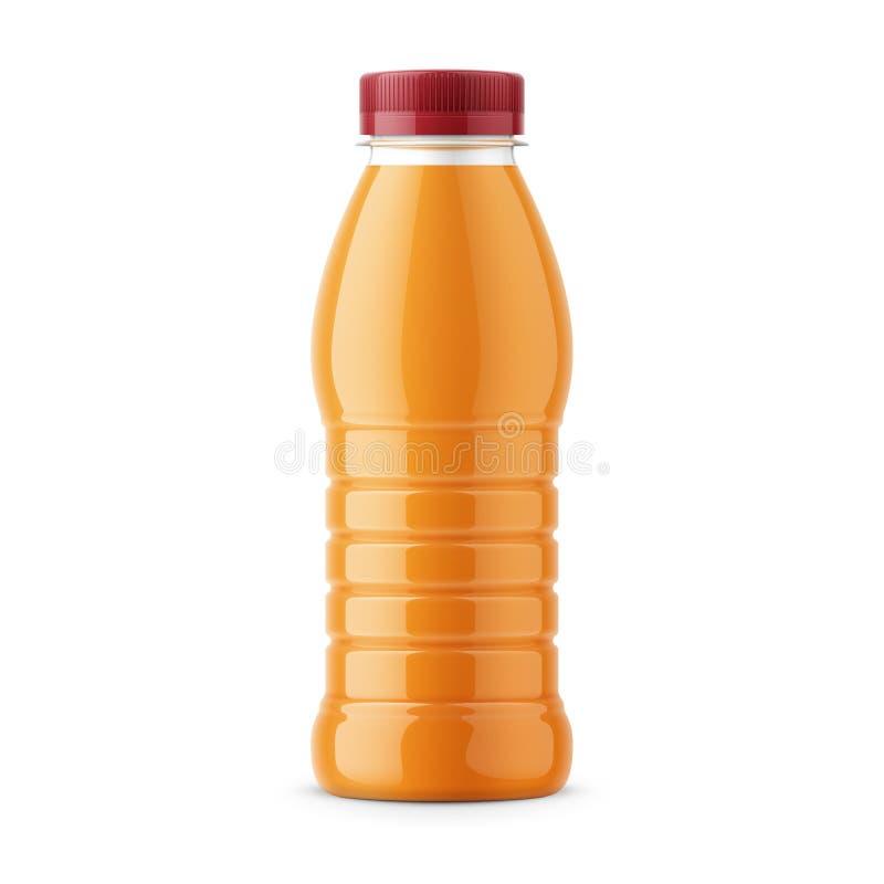 Orange juice bottle template. stock illustration