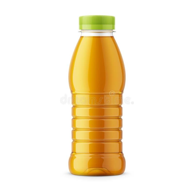 Orange juice bottle template. vector illustration