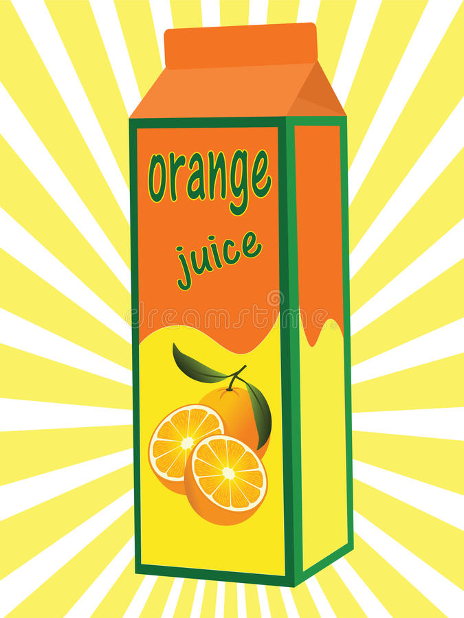Download Orange juice box stock vector. Illustration of light - 13000682