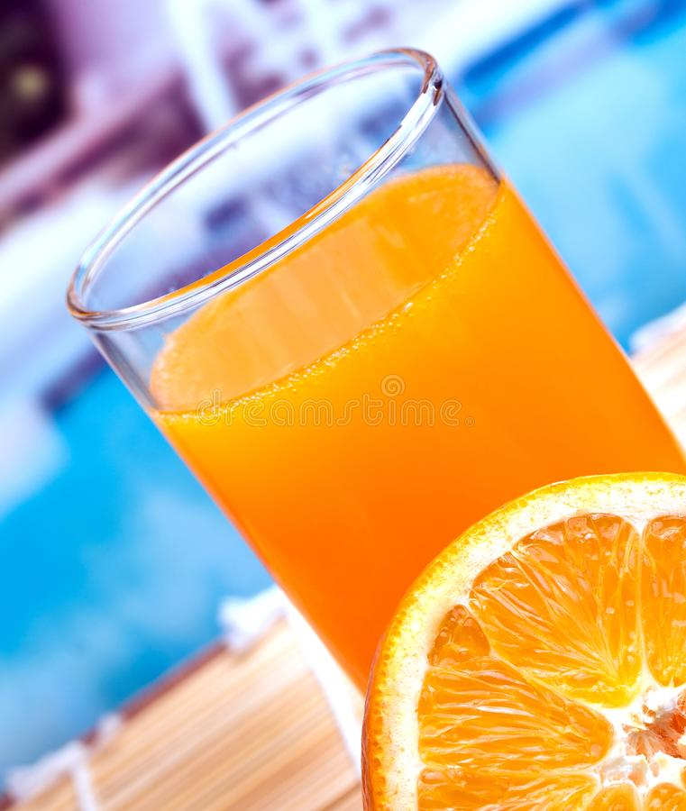 Orange Juice Drink Means Liquid Organic And Natural stock image