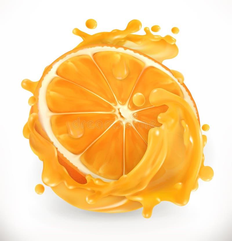 Orange juice. Fresh fruit. Vector icon vector illustration