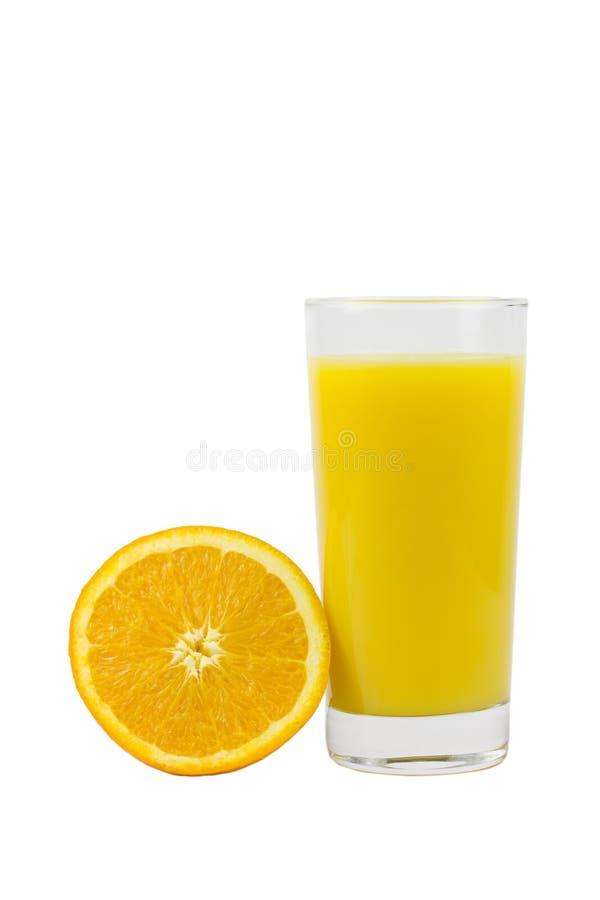 Orange juice isolated royalty free stock photo