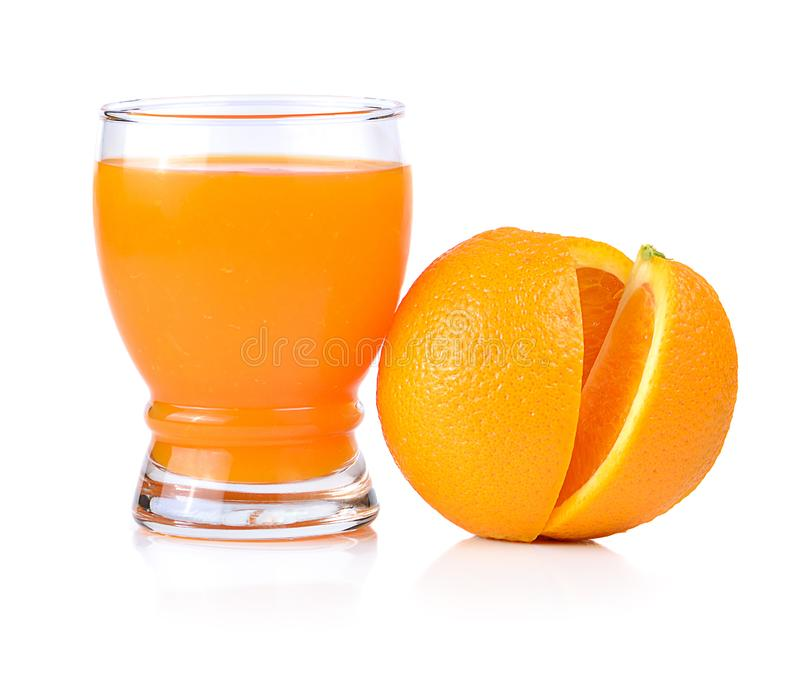 Orange juice  isolated on white background stock photos