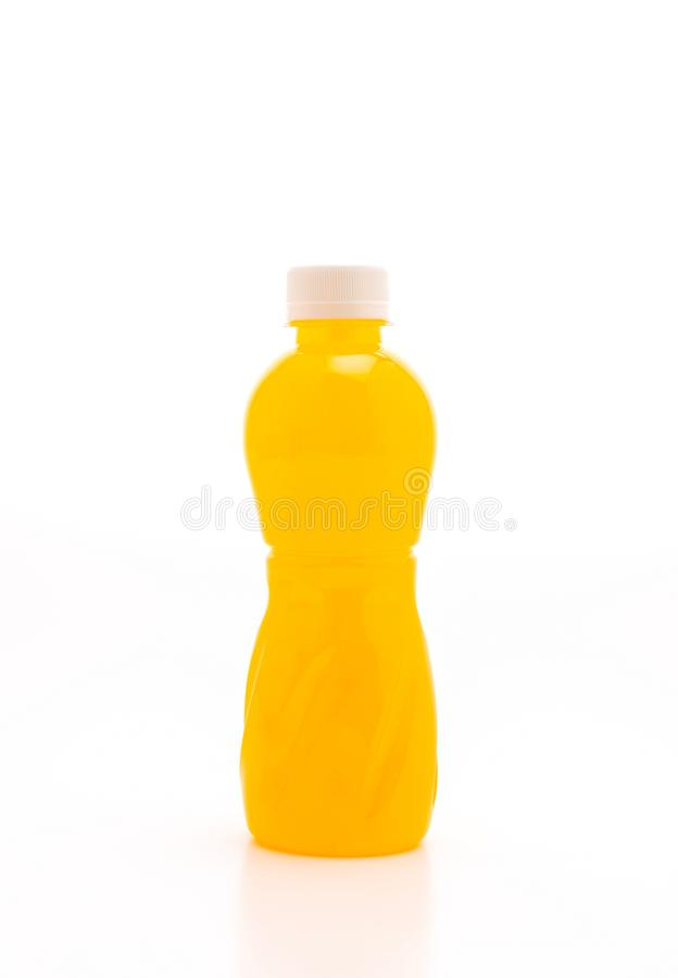 orange juice with nata de coco or coconut jelly stock images