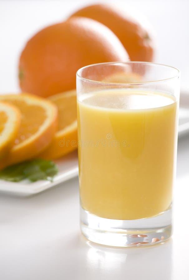 Orange juice and orange royalty free stock photography