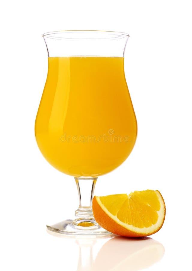 Orange juice and orange slice stock photos