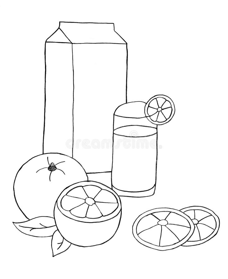 Download Orange juice and oranges stock illustration. Image of juicy - 13690940