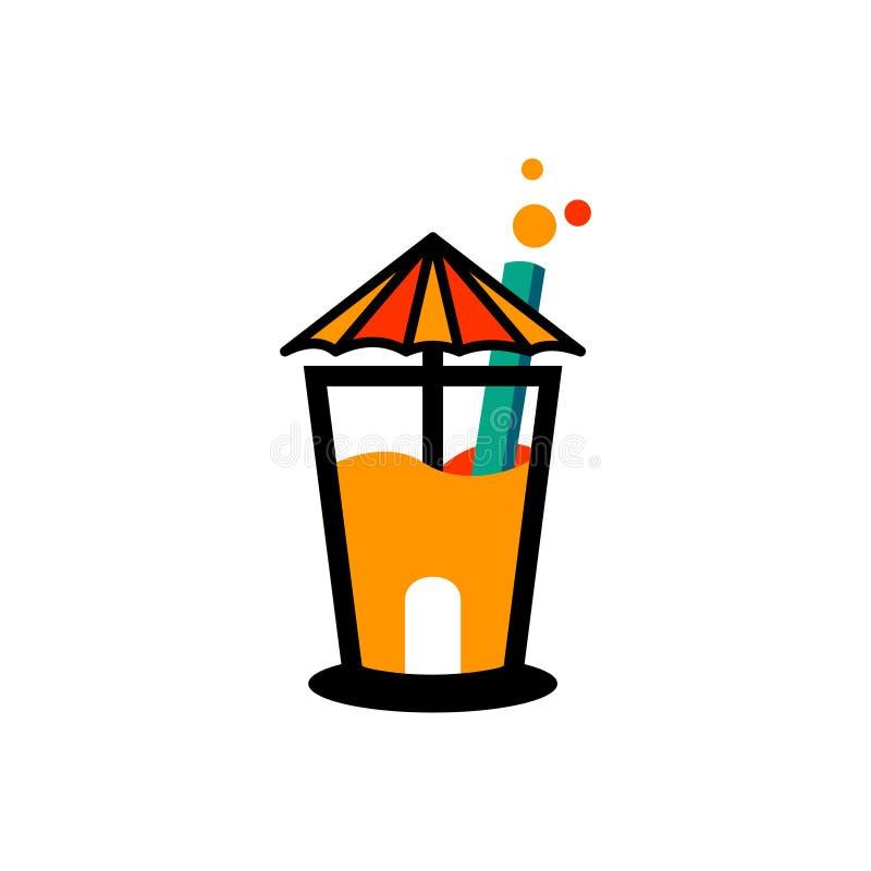 Orange Juice Pulp Extract House Beverage Business.  royalty free illustration