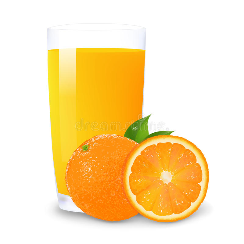 Download Orange Juice And Slices Of Orange Stock Vector - Image: 24282174