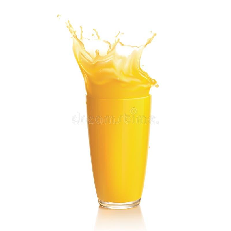 Orange Juice Splash Stock Images