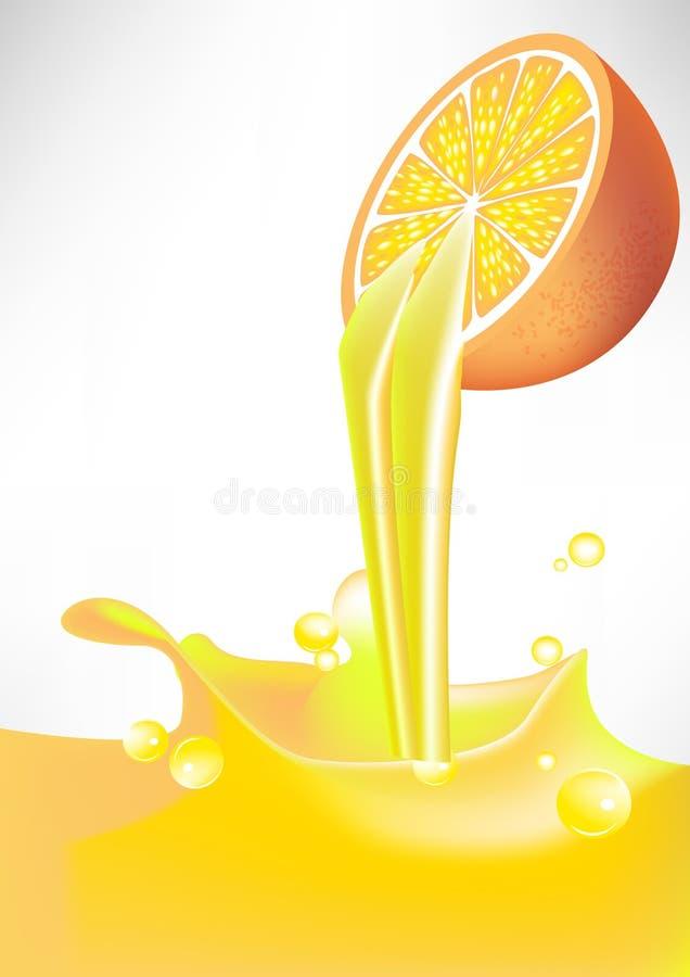 Download Orange Juice Splash Pouring From Fruit Stock Vector - Image: 21740643