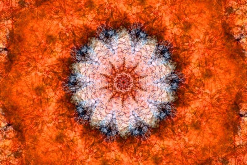 Orange Kaleidoskop stockfotografie