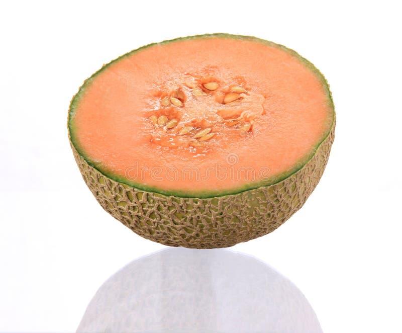 Orange Kantalupemelone stockbilder
