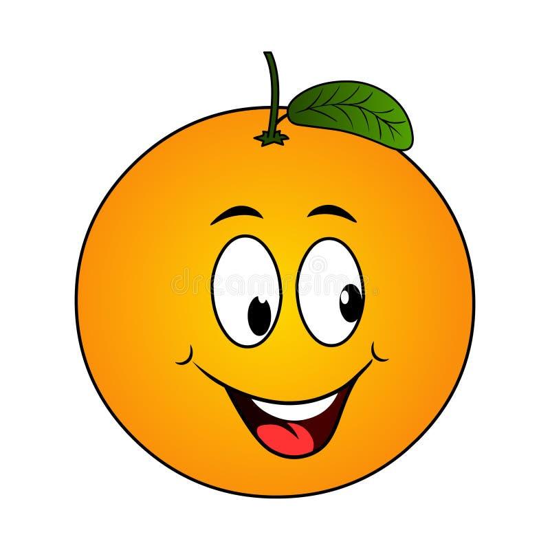 Orange Karikatur stock abbildung
