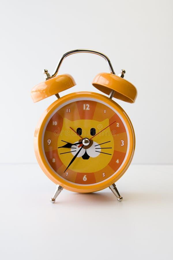 Orange Katze-Borduhr lizenzfreie stockfotos