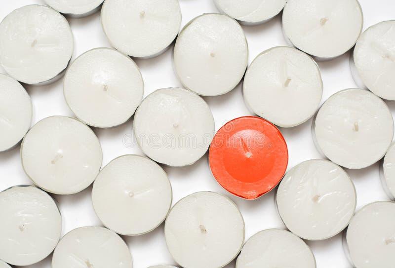 Orange Kerze. stockbild