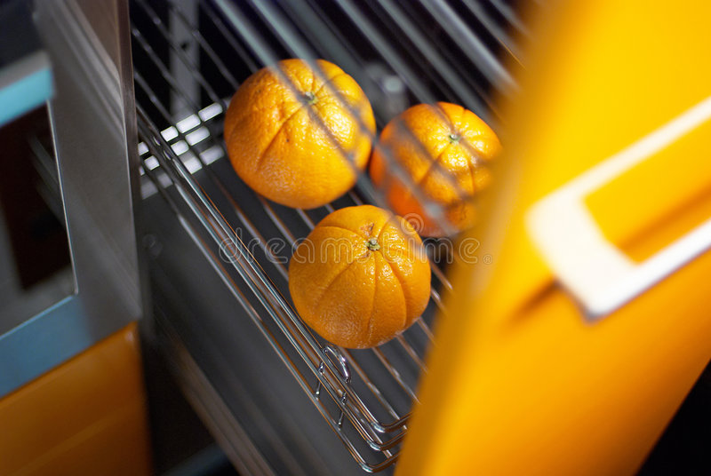 Download Orange In Kitchen In Fridge Royalty Free Stock Image - Image: 5985656
