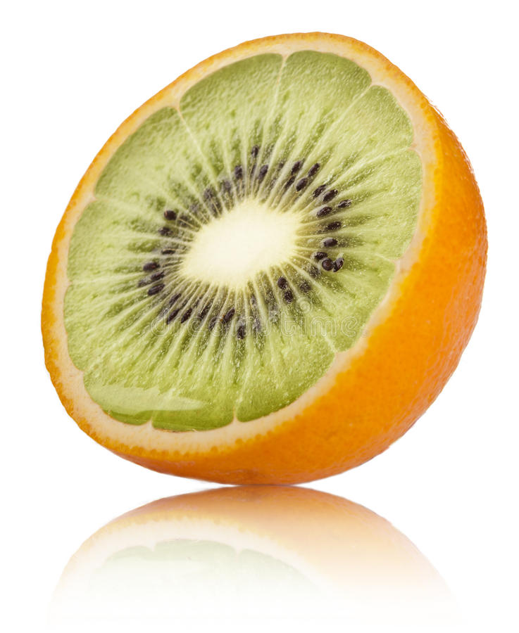 Orange-Kiwi stockbild