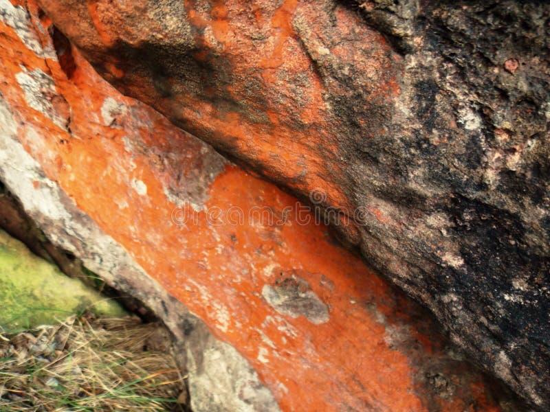 Orange klippor arkivfoto