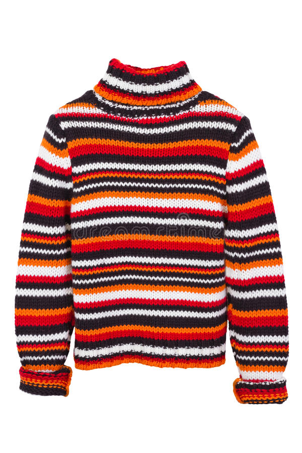 Orange knit sweater, jumper royalty free stock images