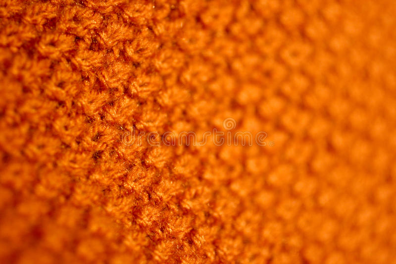 Orange Knitted Cloth Royalty Free Stock Images