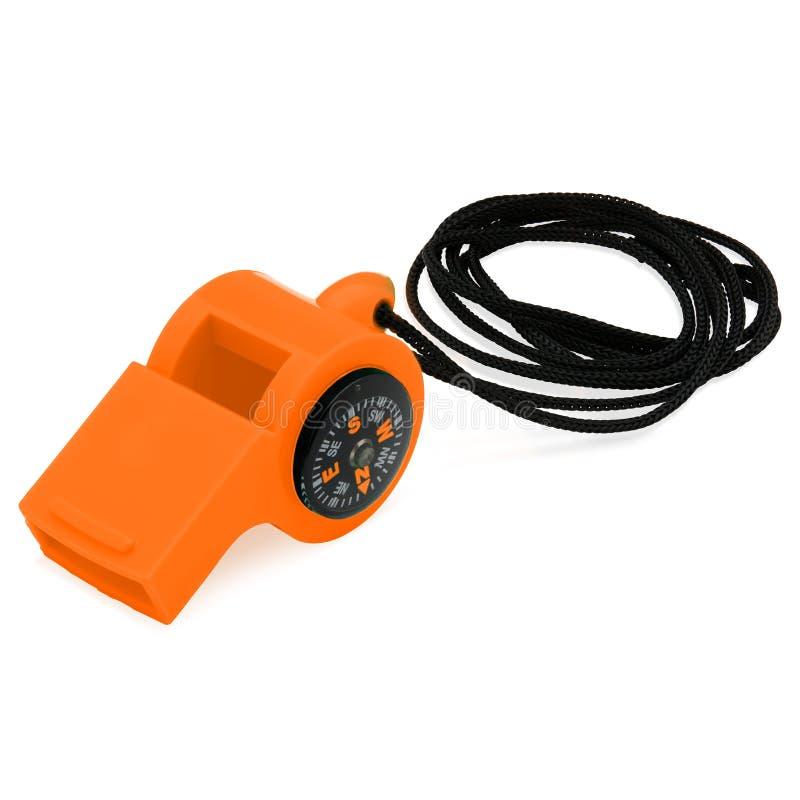 Orange Kompass-Pfeife stock abbildung