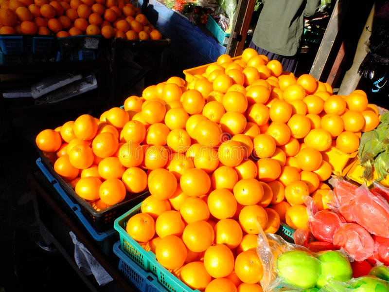 Orange korg royaltyfri foto
